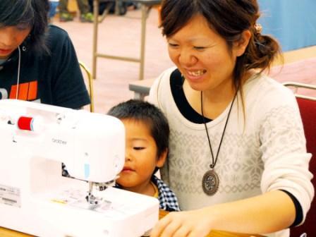 縫製現場の様子